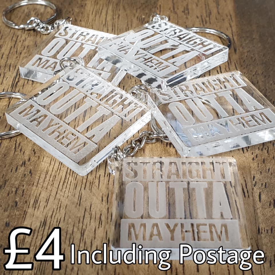 Key Rings Straight Outta Mayhem